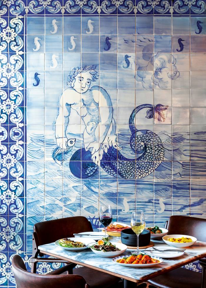 The traditional Portuguese tiles of London's Bar Douro