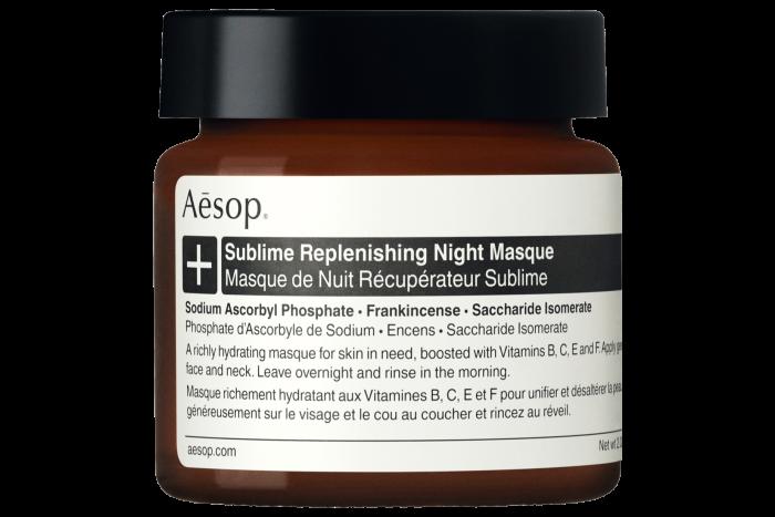 Aesop Sublime Replenishing Night Masque, £93 for 60ml, aesop.com
