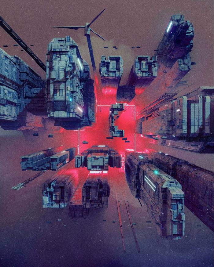 Detail from Beeple's 'Everydays: The First 5000 Days'. The groundbreaking NFT sold for $69m in March