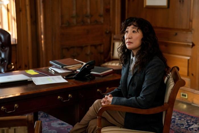Sandra Oh as Ji-Yoon in The Chair
