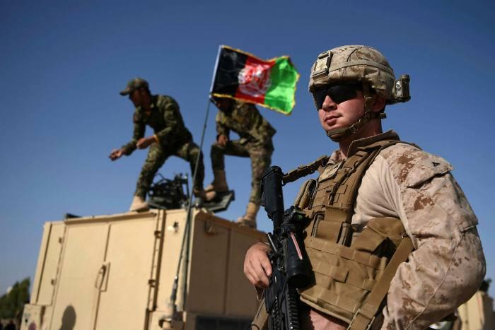 US and Afghan troops