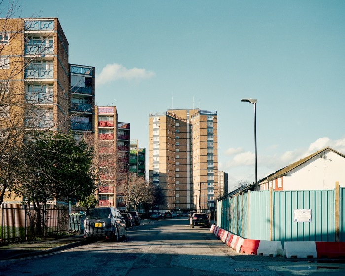 Houses under construction in Newham. The borough has one of the most severe affordable housing shortages in the UK: some 28,000 people are currently on the waiting list