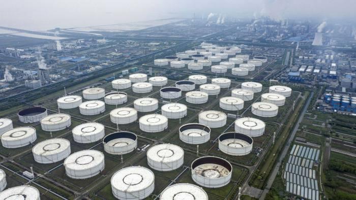 Oil storage tanks in Ningbo, Zhejiang province, China