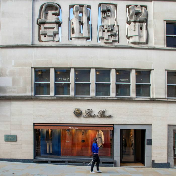 The Time & Life Building on New Bond Street features reliefs by Henry Moore...