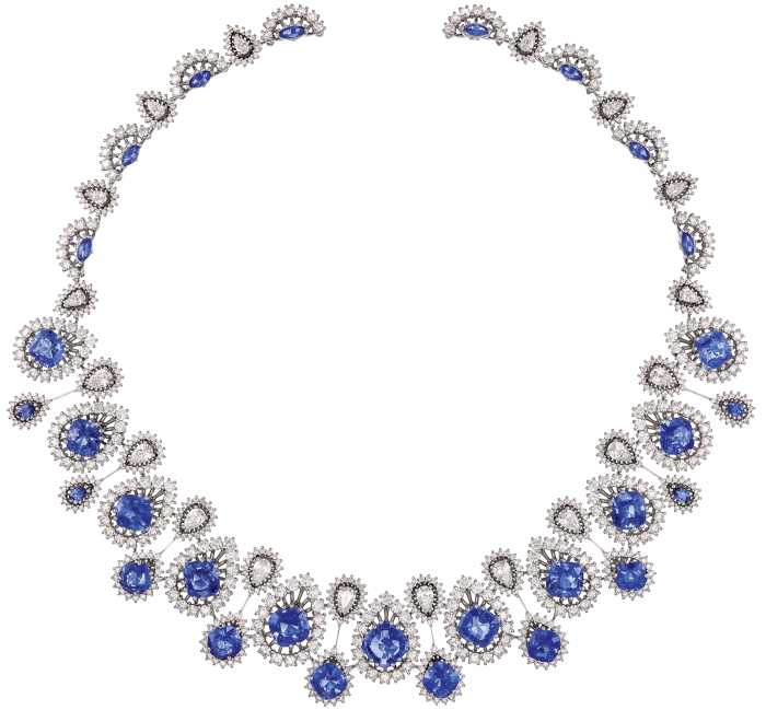 Dolce & Gabbana Alta Gioielleria: blue Sri Lankan sapphire and diamond necklace, POA