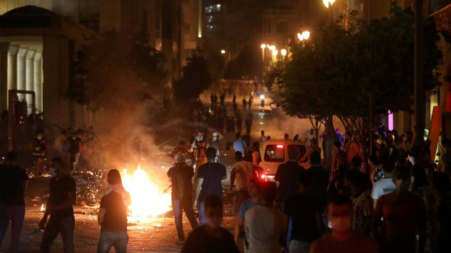 Protests erupt in Beirut as fury against Lebanese authorities grows