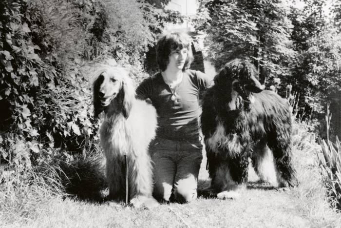 Smith with his dogs, Homer andLancelot
