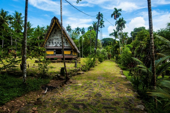 The 200 year-old bai, a meeting house for governing elders, on the island of Babeldaob