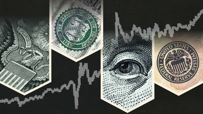 Images showing logos of the US Treasury department  and the Federal Reserve