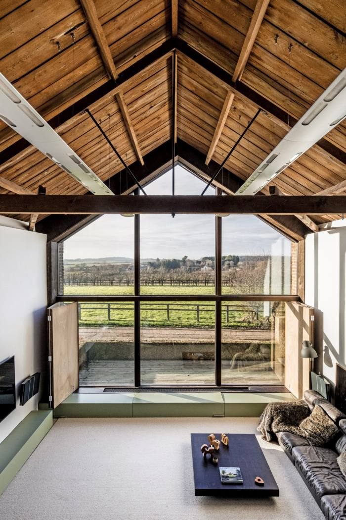 Nicolas Tye replaced a gable end in The Long Barn with glass, £2.4m through The Modern House