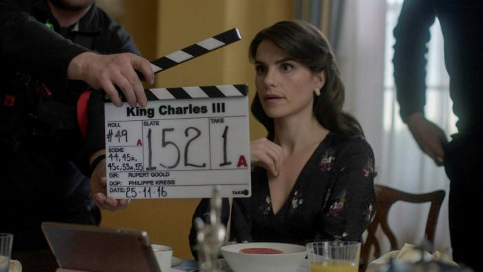 Charlotte Riley as Kate Middleton in 'King Charles III'. Paying for a nanny to accompany her on set was a way to keep her 'foot in the door'