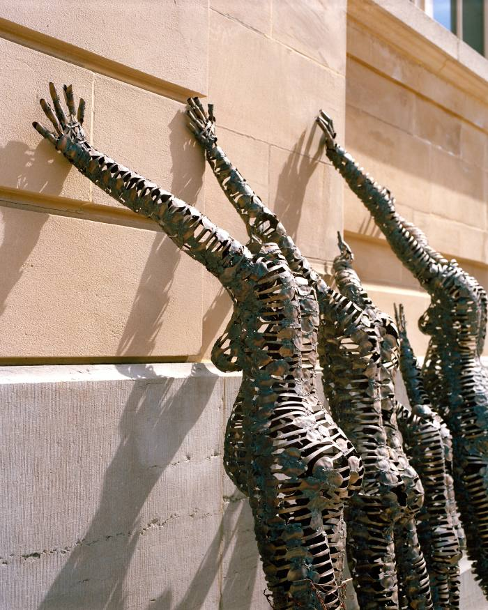 Sculpture by Congolese artist Freddy Tsimba, outside the Royal Museum of Central Africa