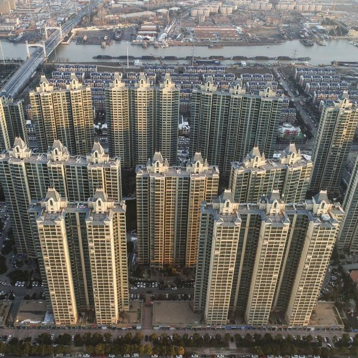 Evergrande Metropolis community in February in Huai'an. The fate of such projects will be a test of what happens if China's process of urbanisation eventually runs out of steam