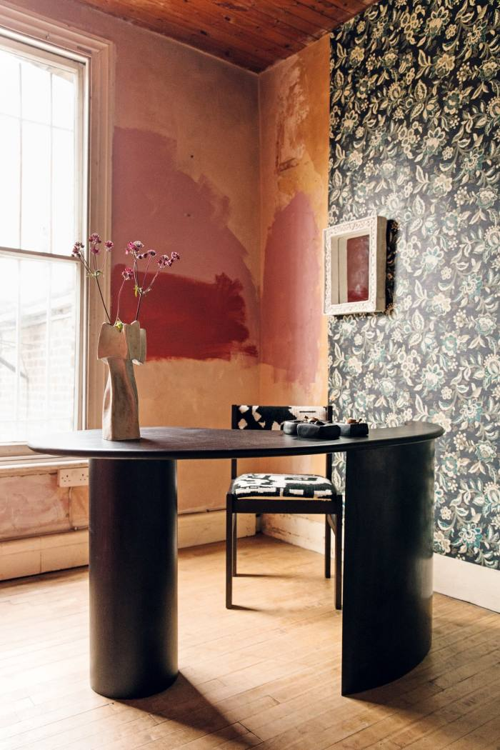 Fred Rigby'sGolden Ratio Desk is paired with a Louie Isaaman-Jones Tapestry Chair
