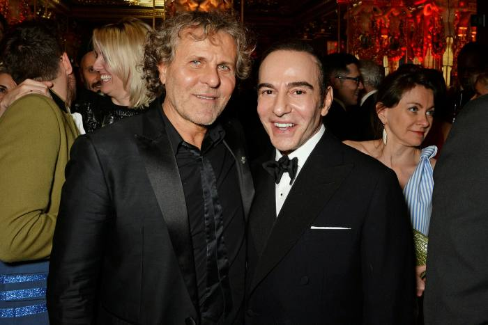 Renzo Rosso with John Galliano in 2014