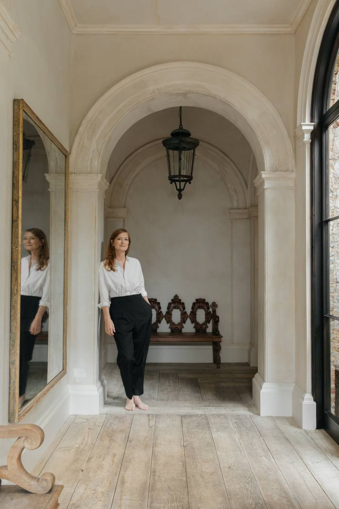 Rose Uniacke at home in London