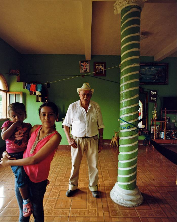 Don Agapito and Victoria (centre) at La Esperanza