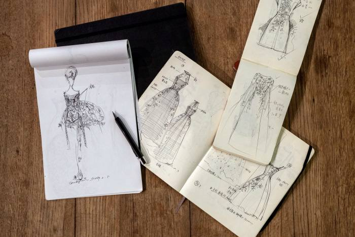 A few of Pei'sMoleskine sketchbooks and one of her Faber-Castell pencils
