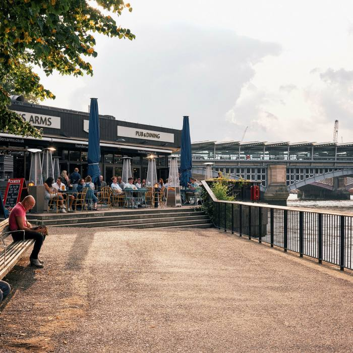 The South Bank pub is a stone's throw from Tate Modern and the Globe theatre