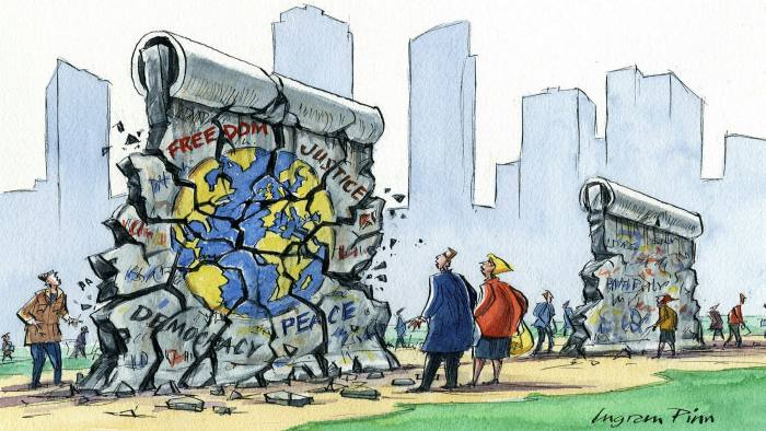 Ingram Pinn illustration of Philip Stephens column 'Germany's tough choices amid the global disorder'