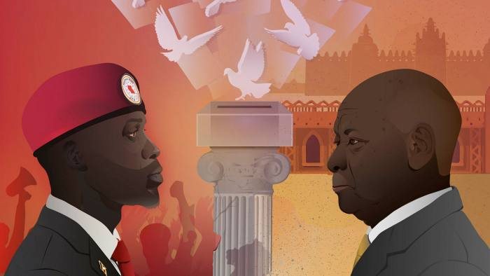 Efi Chalikopoulou illustration of David Pilling column  'Democracy in Africa is in retreat'