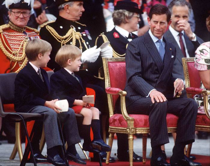 The Prince of Wales with Princes William and Harry