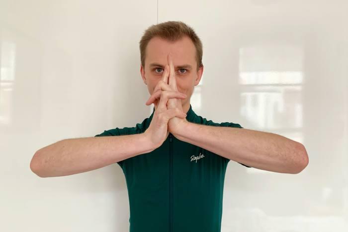 The author doing his best ninja hand gesture
