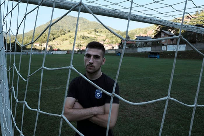 FK Guber footballer David Maksimovic. 'The division is between people who look at who a person is for themselves, and those who depend on a political party for their livelihood'