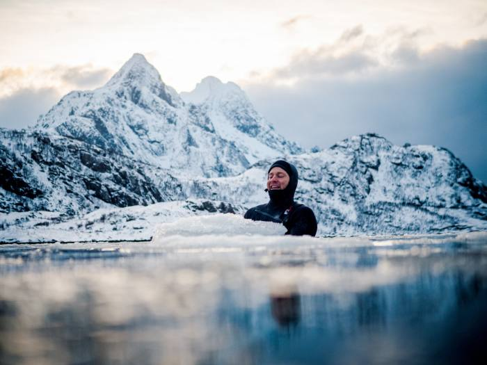 Shannon Ainslie in the Arctic waters