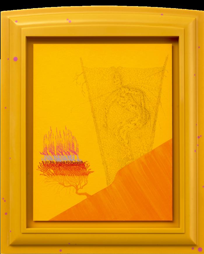 Y Predator, 2020, by Matthew Barney, in a polyurethane frame