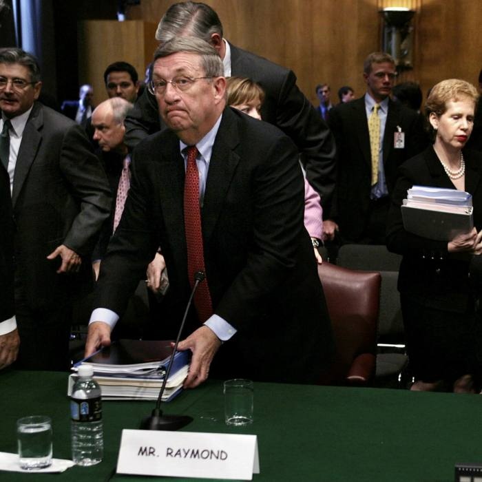 The chairmen of Exxon Mobil, Chevron and ConocoPhillips testify at an energy committee hearing in Washington