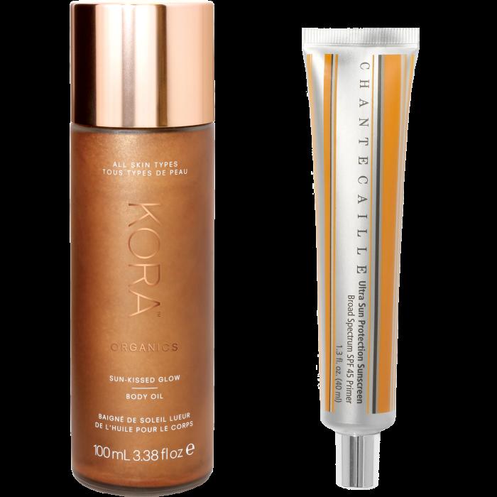Kora Organics Sun-Kissed Glow Body Oil, £52, spacenk.com. Chantecaille Ultra Sun Protection Sunscreen SPF45, £84