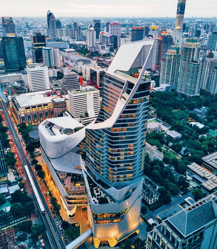 The Central Embassy in Bangkok, completed by Amanda Levete's practice, AL_A, in 2017