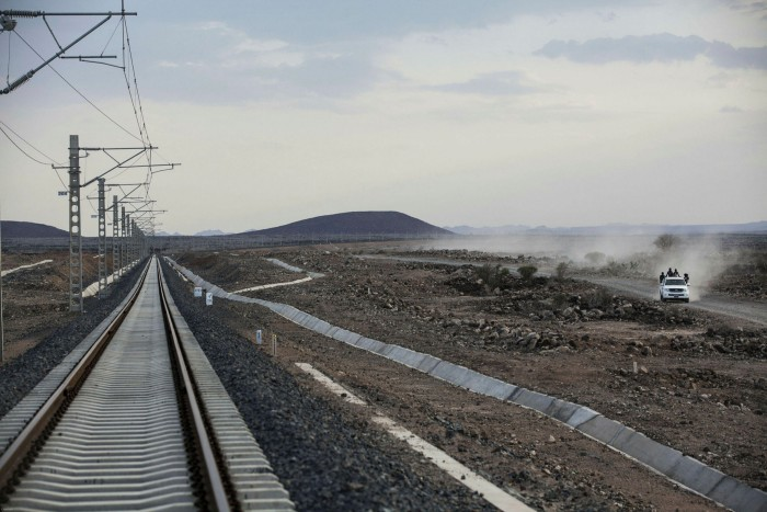 The electrified line from Djibouti to Addis Ababa