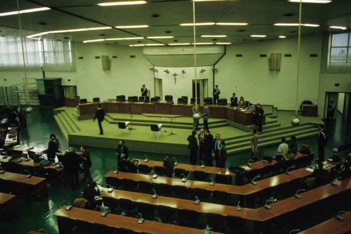 The Maxi trial against the Sicilian Mafia, which started in 1986 in Palermo. The largest trial in Italy since this begins later this month following a recent Gratteri investigation