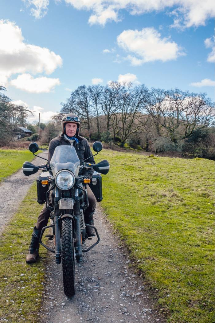 The author on a Royal Enfield Himalayan, from £4,599