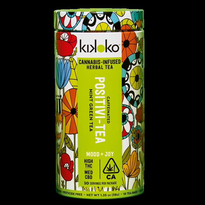 Kikoko Positivi-Tea cannabis-infused mint green tea bags,from $6 for one bag
