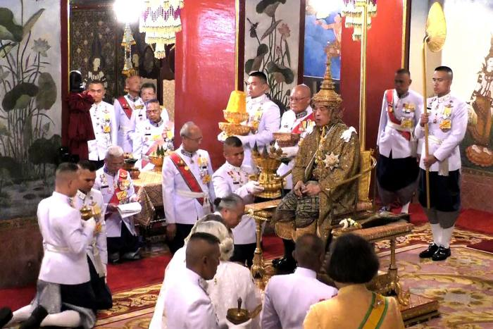 The coronation of King Maha Vajiralongkorn, Bangkok, May 2019. His father King Bhumibol ruled the country for 70 years before his death in 2016