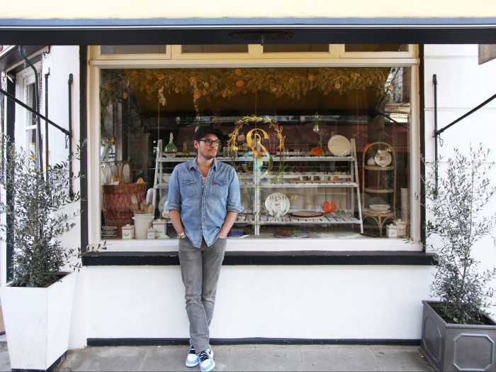 Seb Bishop, CEO and creative director of Summerill & Bishop, at the Portland Road store