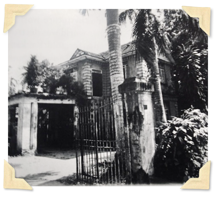 A picture of Philip Delves Broughton's family's former home in Yangon, taken in 2012