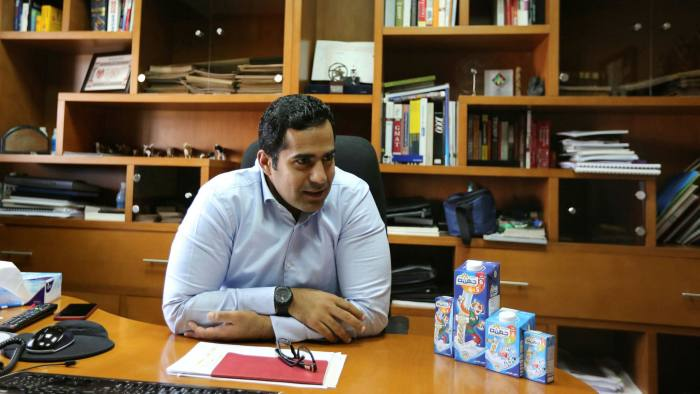 Seif el-Din Thabet in his office