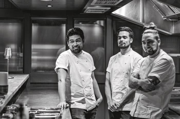 From left, chefs Luke, Theo and Nat Selby