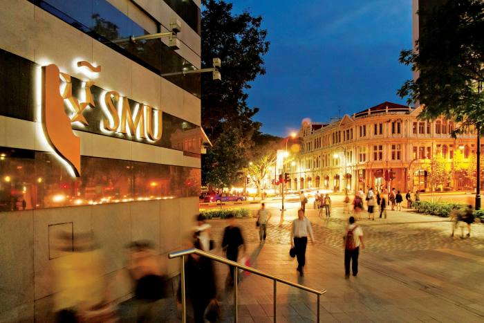 Singapore Management University appears in both league tables of finance degrees