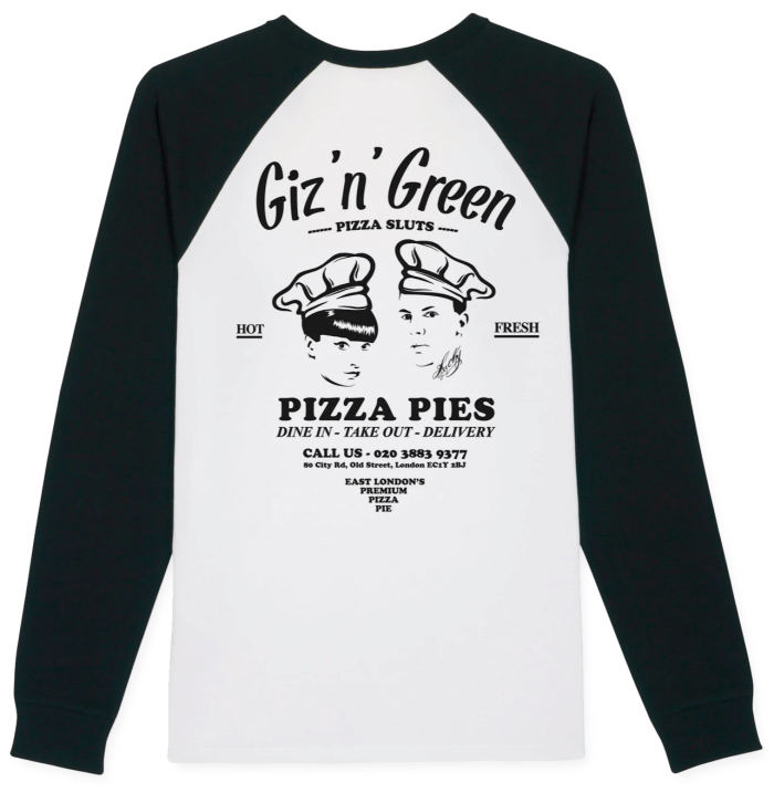 Giz 'n' Green baseball top, £45, hitandrun.ltd