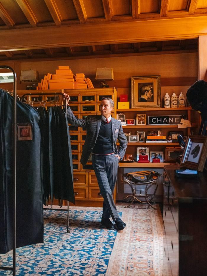 Fulk in his dressing room