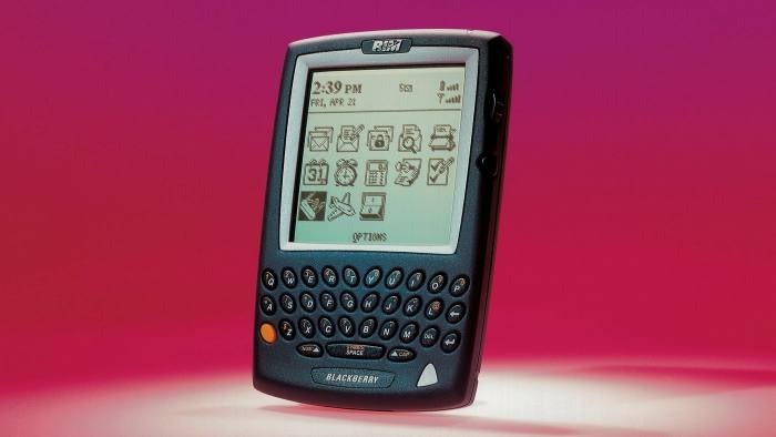 An old BlackBerry model