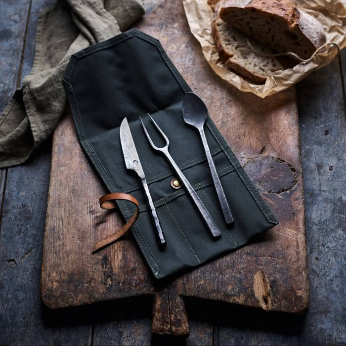 Cutlery by Somerset blacksmith Alex Pole, POA from Kinn Collective