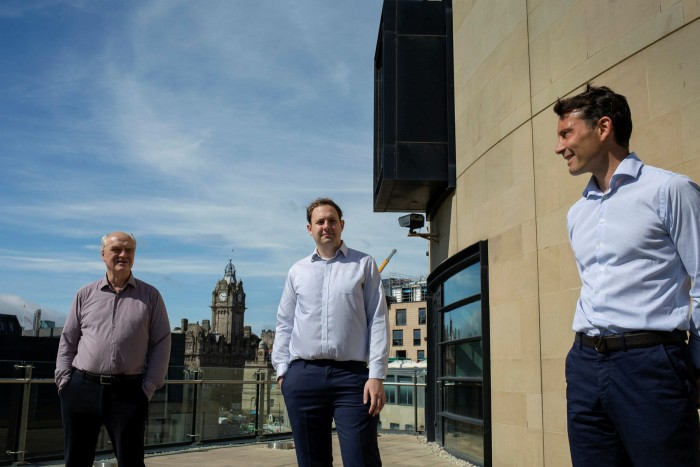 James Anderson, Lawrence Burns and Tom Slater of, which has experienced a 15-fold surge in assets under management over the past two decades, from £22bn in 2000 to £326bn last year