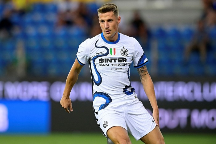 Andrea Pinamont of Inter Milan during this month's friendly match