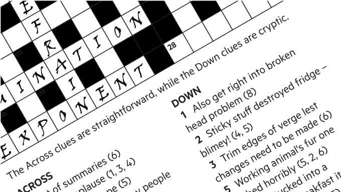 Ft Weekend Magazine Crossword Number 424 Financial Times